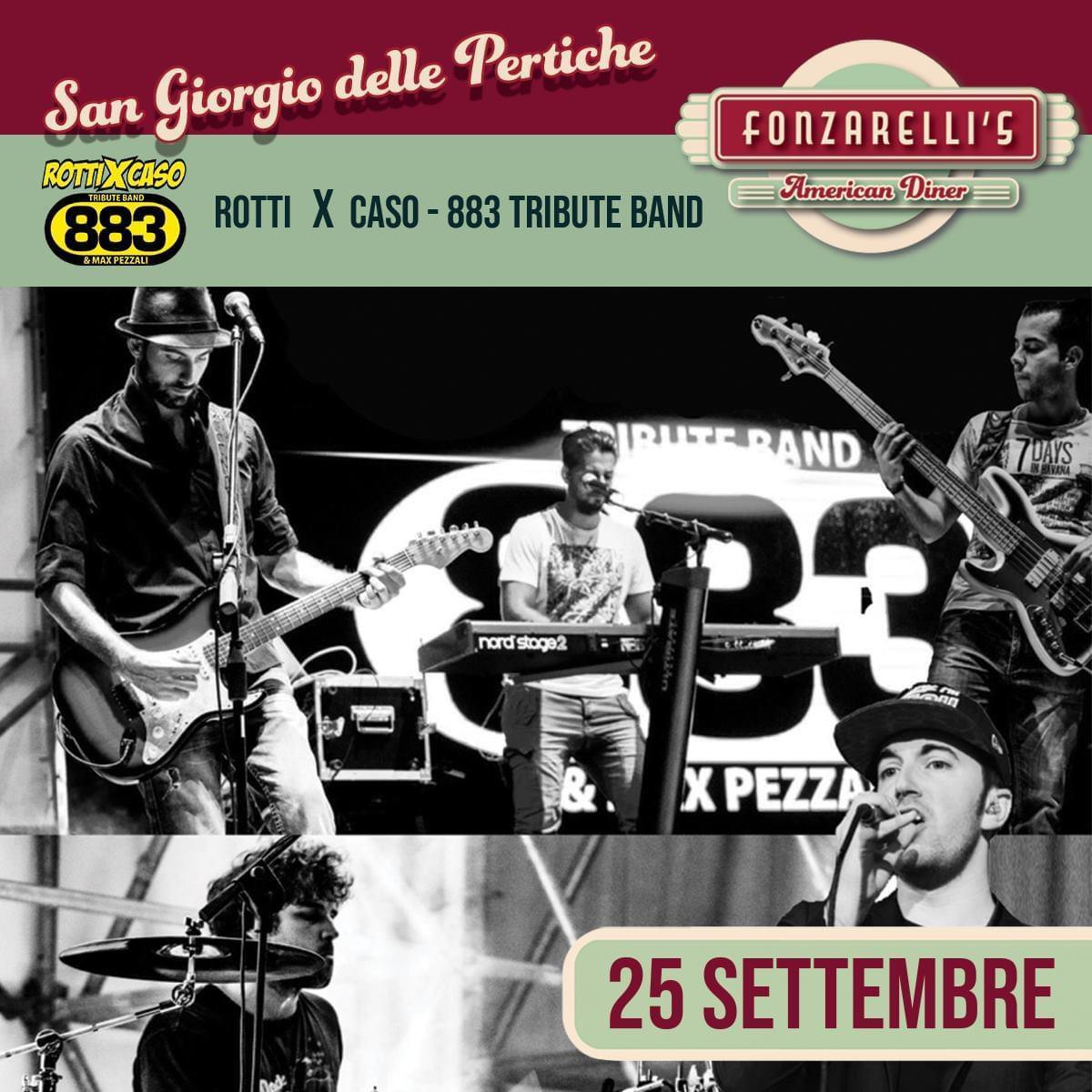 Da Fonzarelli's venerdì 25 settembre concerto dei Rotti x Caso - 883 Tribute Band
